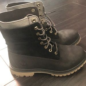 Black and gray Timberland boots Size 7